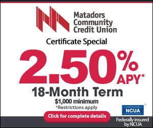 Certificate special 2.50% APY 18 month term, $1,000 minimim restrictions apply