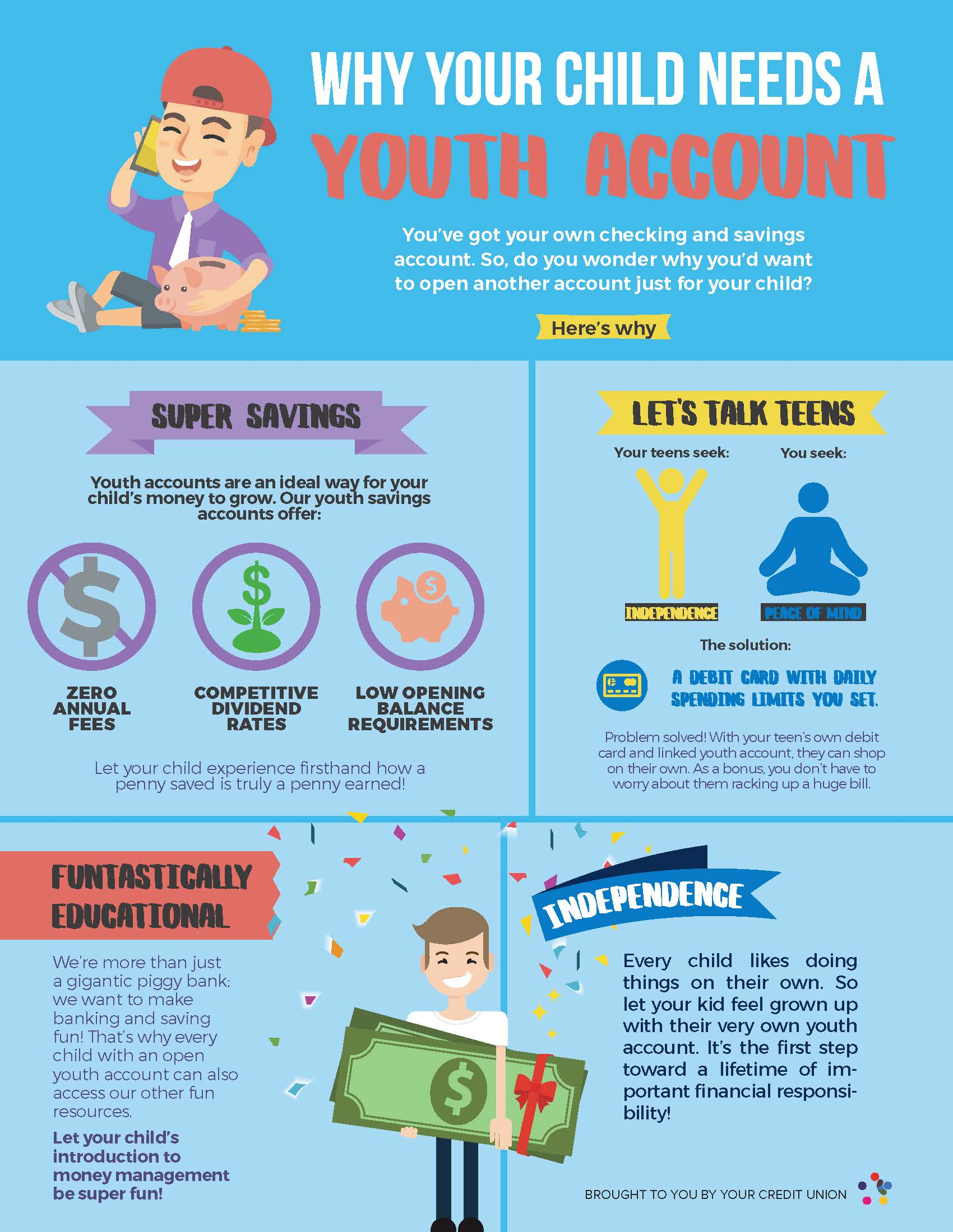Why Your Child Needs a Youth Savings Account Inforgraphic